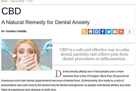CBD : A Natural Remedy for Dental Anxiety